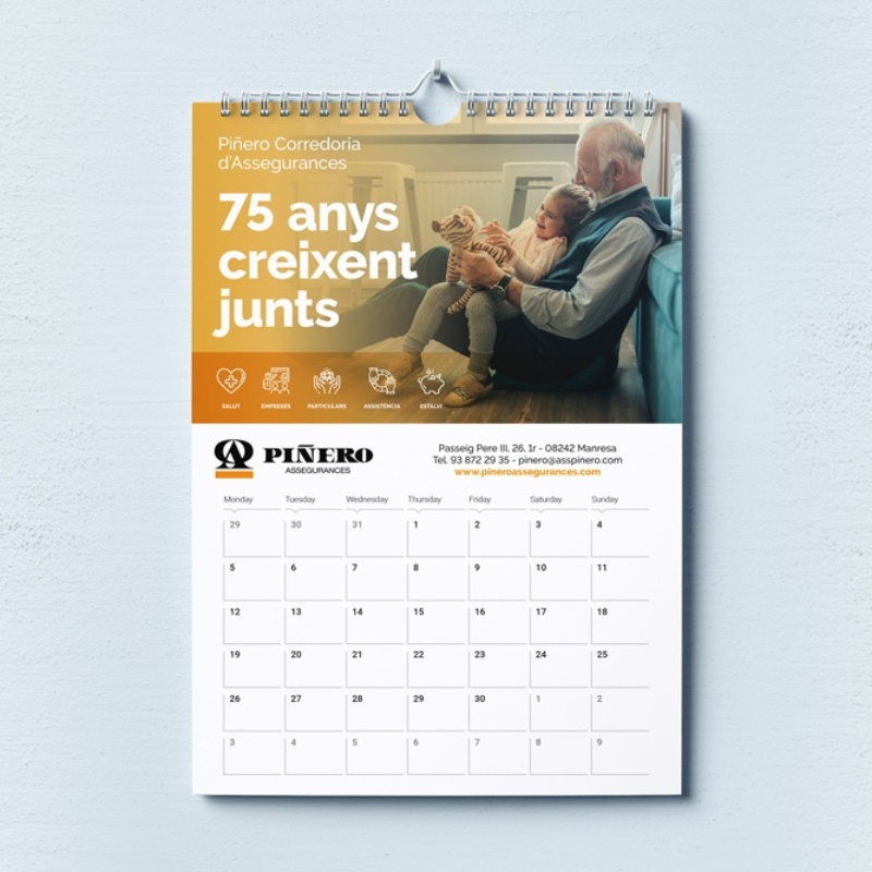 Calendari de paret Assegurances Piñero