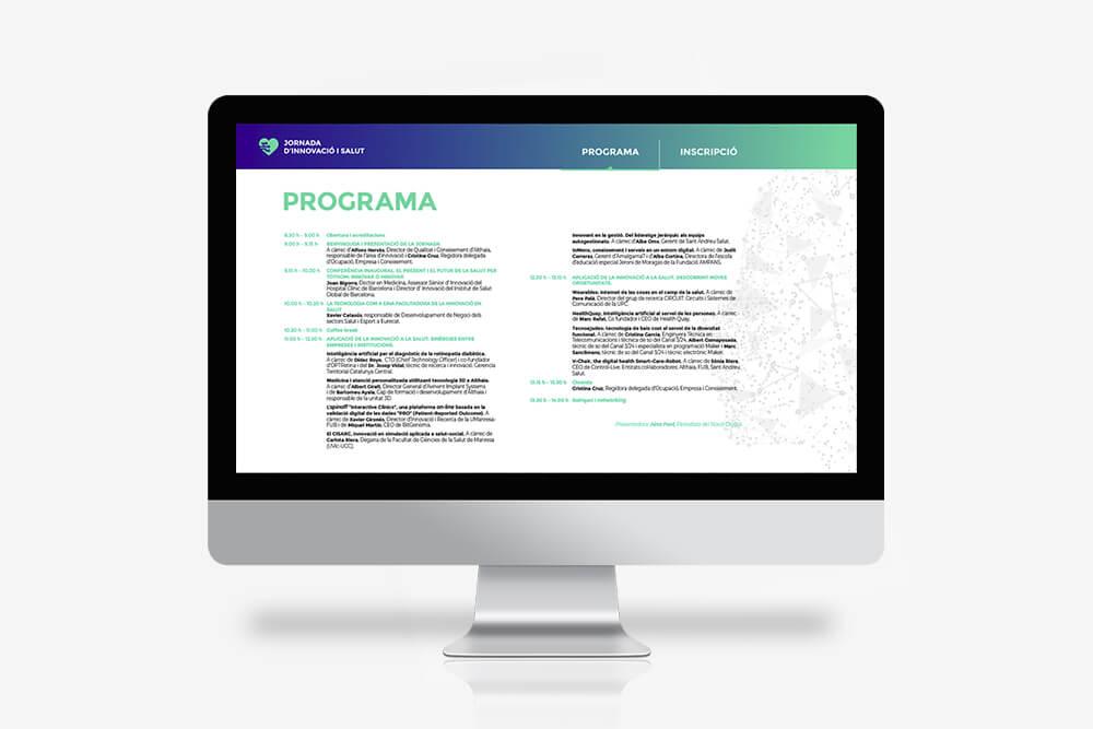 PDF amb programa digital per a jornada d'innovació i salut a Manresa