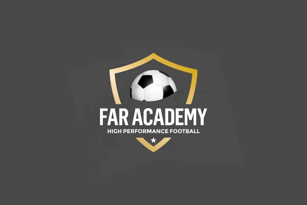 logotip per a academia esportiva d'alt rendiment