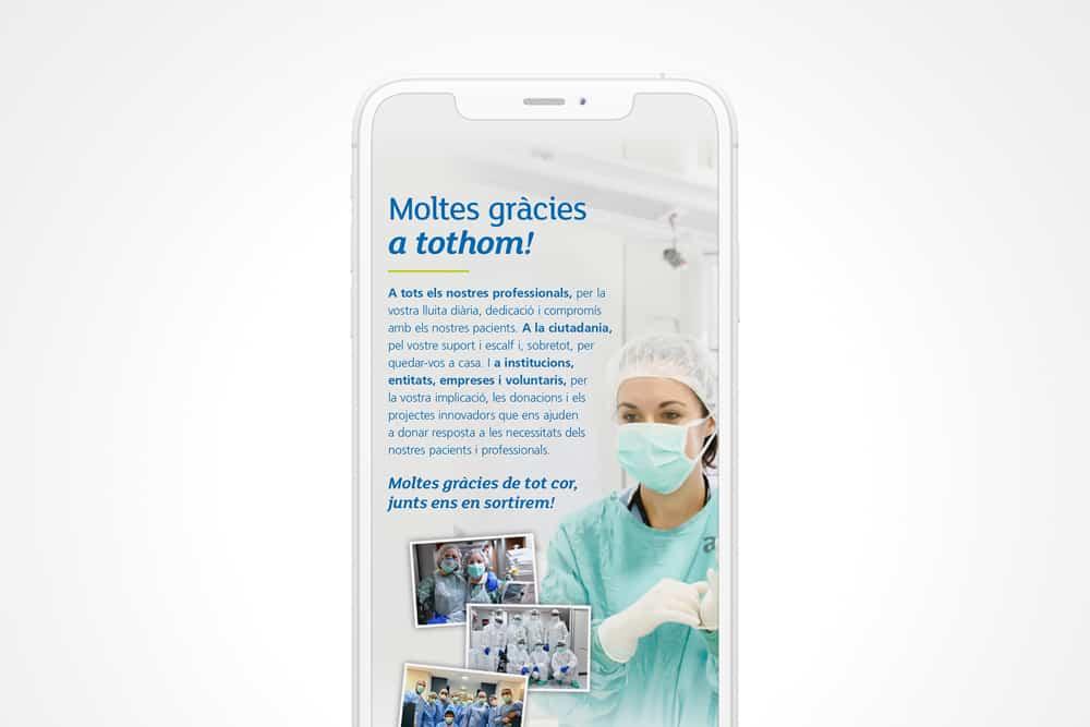 Campanya de mecenatge per Althaia en format Instagram Stories